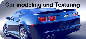 Car modeling and texturing