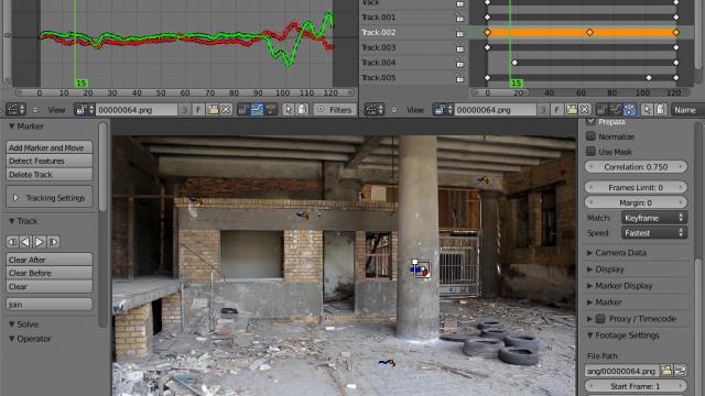 Camera tracking in Blender