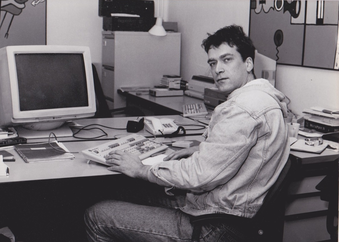 Ton Roosendaal in 1992, with his first SGI.