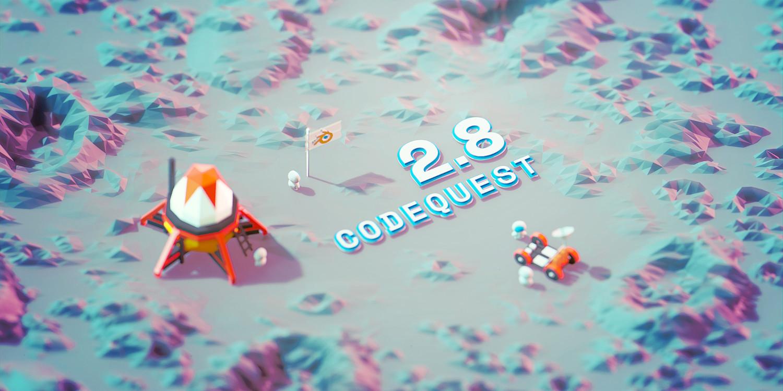 Blender 2.8 Code Quest touchdown