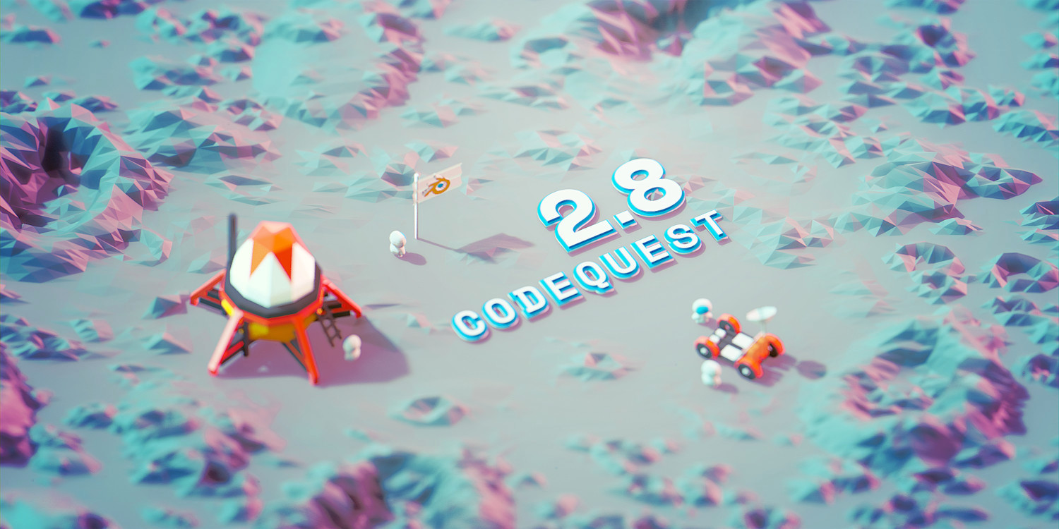 Blender 2.8 Code Quest touchdown