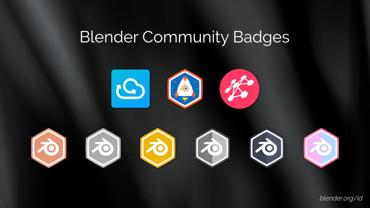 Blender Community Badges