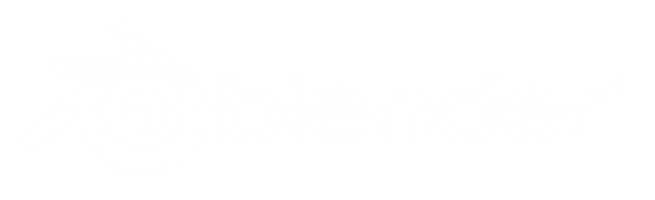Blender Logo White