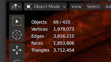 Statistics 3D Viewport