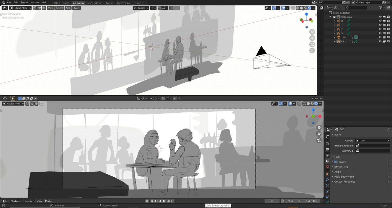 Animation Director Alexandre Heboyan shares a storyboarding shot breakdown made in Blender.
