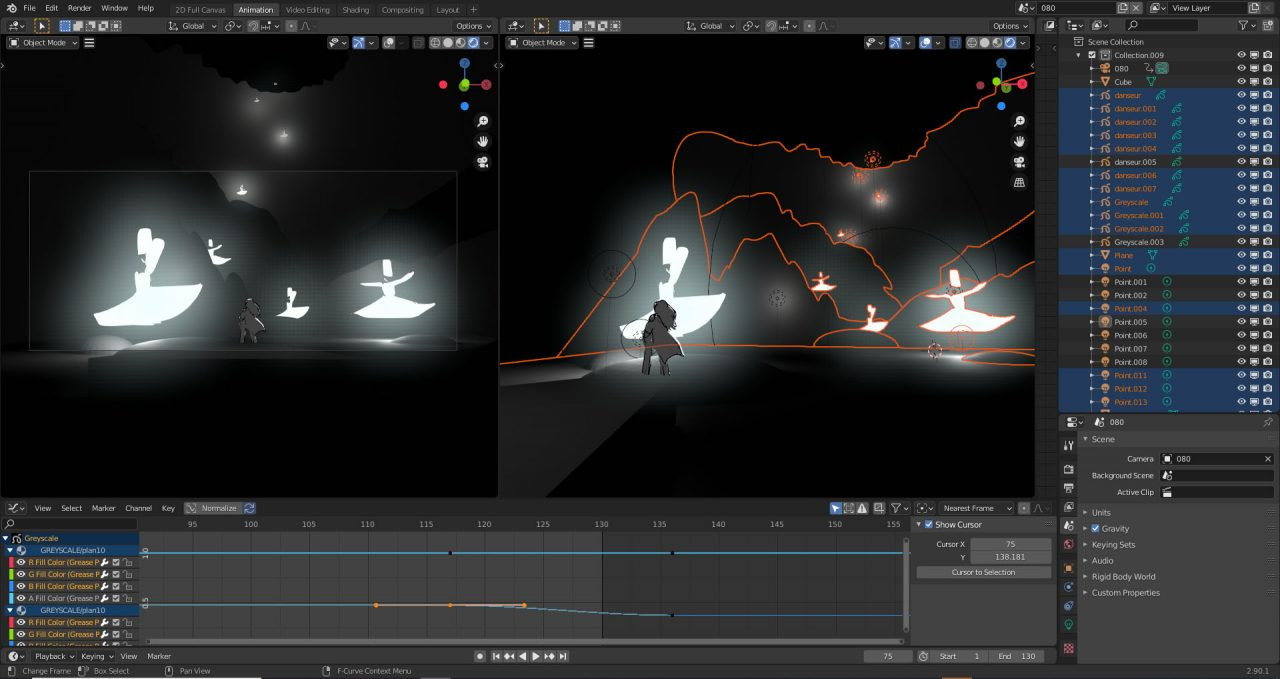Animation Director Alexandre Heboyan demonstrates his hybrid Grease Pencil/3D workflow for storyboarding.